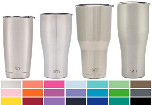 Simple Modern 32oz Slim Cruiser Tumbler - Vacuum Insulated Travel Mug Coffee Stein - 1 Liter Double Wall Silver 18/8 Stainless Steel - Simple Stainless. For product & price info go to:  https://all4hiking.com/products/simple-modern-32oz-slim-cruiser-tumbler-vacuum-insulated-travel-mug-coffee-stein-1-liter-double-wall-silver-18-8-stainless-steel-simple-stainless/