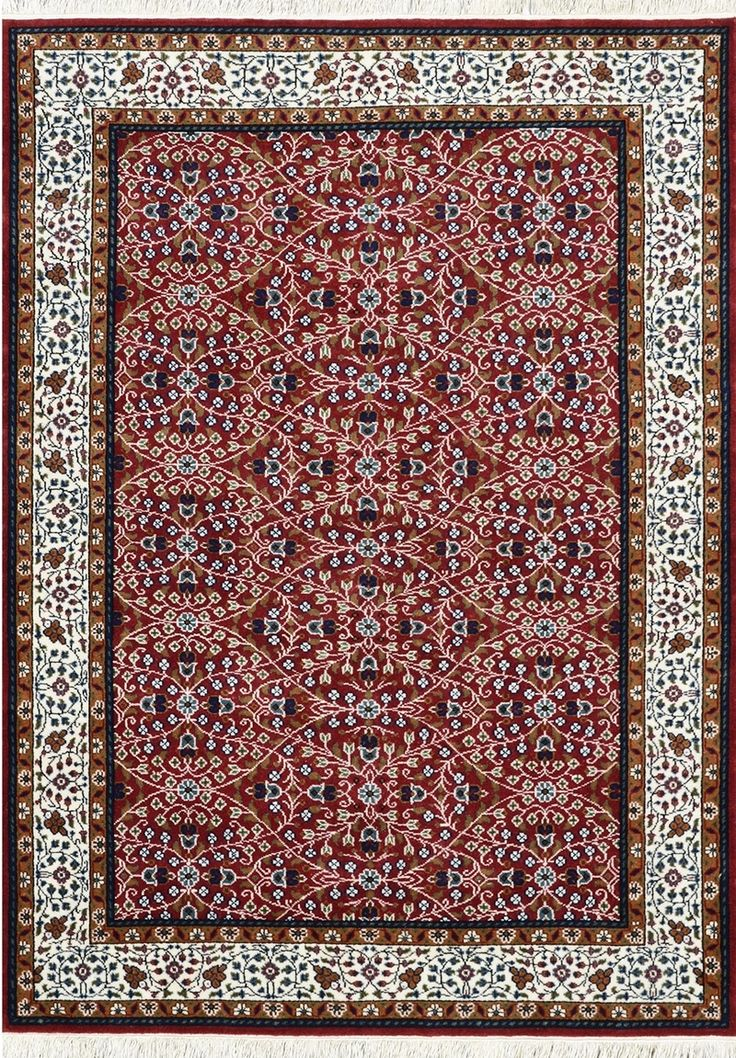 One of the most famous Turkish design made in Bhadohi India with undyed natural wool. | Width:5' 7'' (170cm) | Length:  7' 10''(240cm) | Price: $678