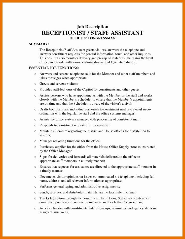 Medical office assistant job description resume awesome 5