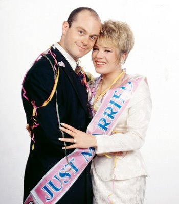 Grant and Sharon (Watts) Mitchell, played by Ross Kemp and Letitia Dean.