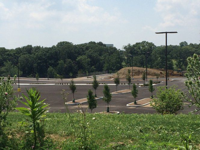 The site sits across Valley Road from a new Giant Food Store.