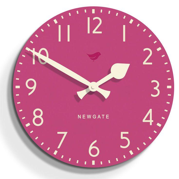 Tock Clock - Pedicure Pink - 50cm dia from Newgate Clocks