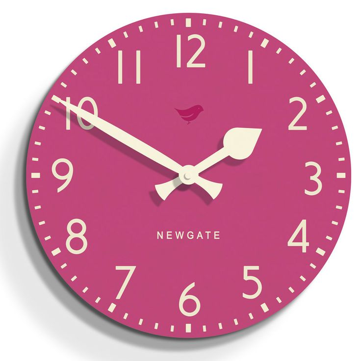 Tock Clock - Pedicure Pink - 50cm dia from Newgate Clocks