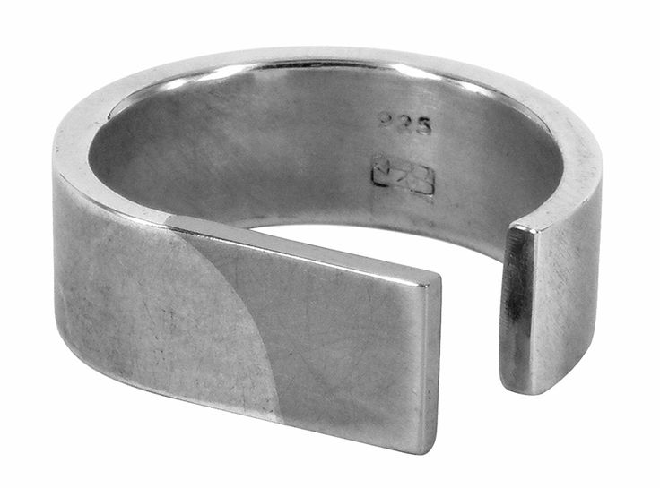 Monel ring in monel and sterling silver
