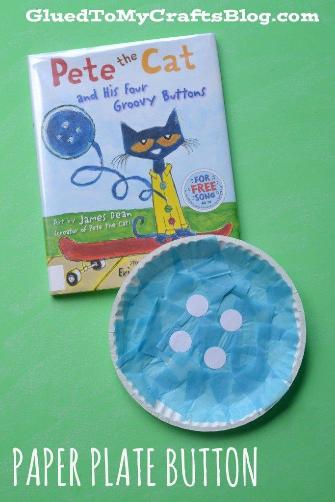 Paper Plate Button - Kid Craft