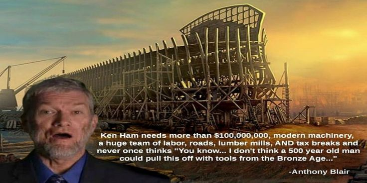 How does constructing a replica of Noah's Ark with modern technology contribute to the argument for the supposed truth of Young Earth Creationism?