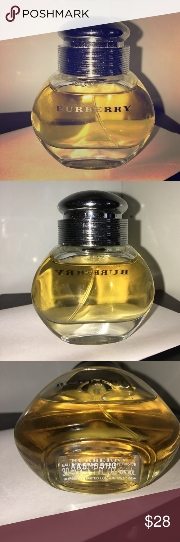 Burberry by Burberry Perfume 30 mL/1 oz. Barely used and mostly full. Bottle has some scuff marks and general wear. Price is negotiable 😊 Burberry Makeup