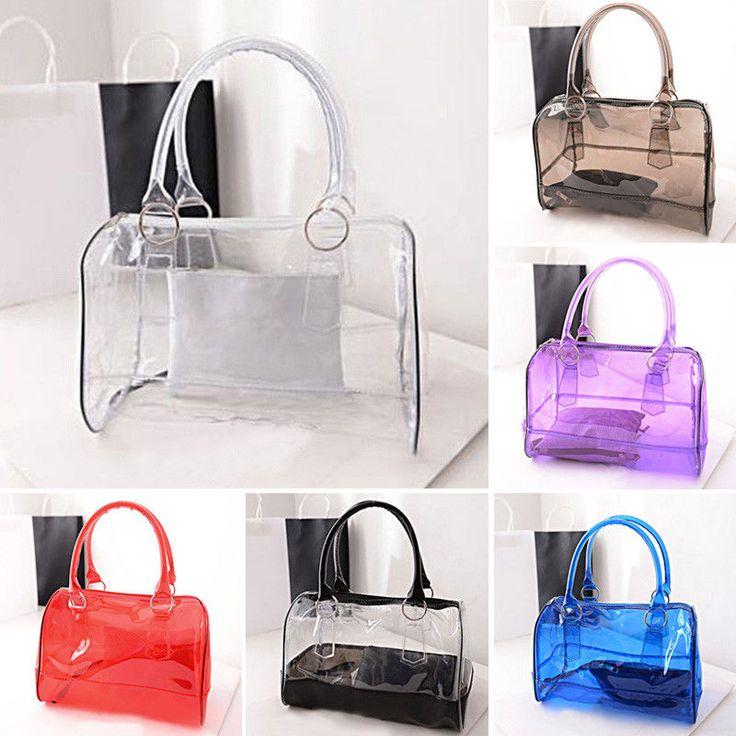 Ladies Transparent Shoulder Bag Clear Handbag Tote Shoulder Satchel Jelly Bag #Unbranded #Satchel