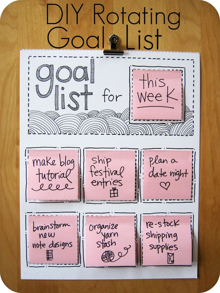 Crafting on a Budget: DIY: Rotating Goal List