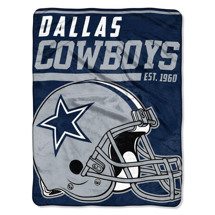 Dallas Cowboys Blanket 46x60 Raschel 40 Yard Dash Design