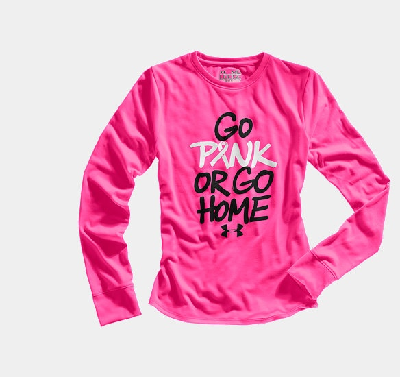Girls' PIP Go Pink Or Go Home Longsleeve | 1232215 | Under Armour US