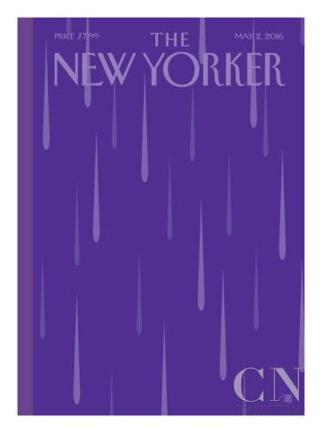 Prince Purple Rain New Yorker - Signed Limited Edition Cover – by Bob Staake – May 2, 2016 Poster Print by Bob Staake at the Condé Nast Collection