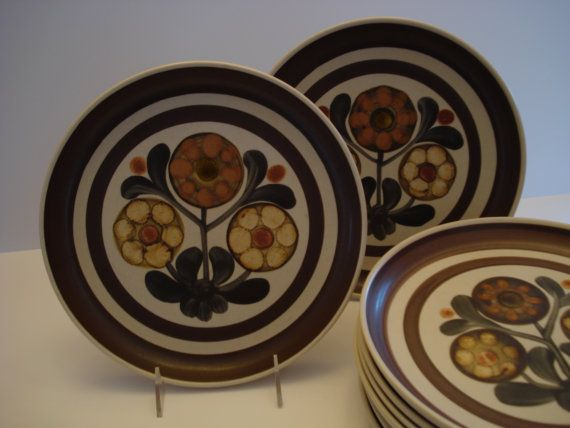 Vintage Mayflower Denby Stoneware Plates By