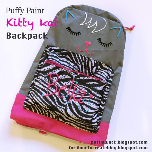 Get Wacky and Crafty with Pattiewack!: Puffy Paint Backpack for Back-To-School