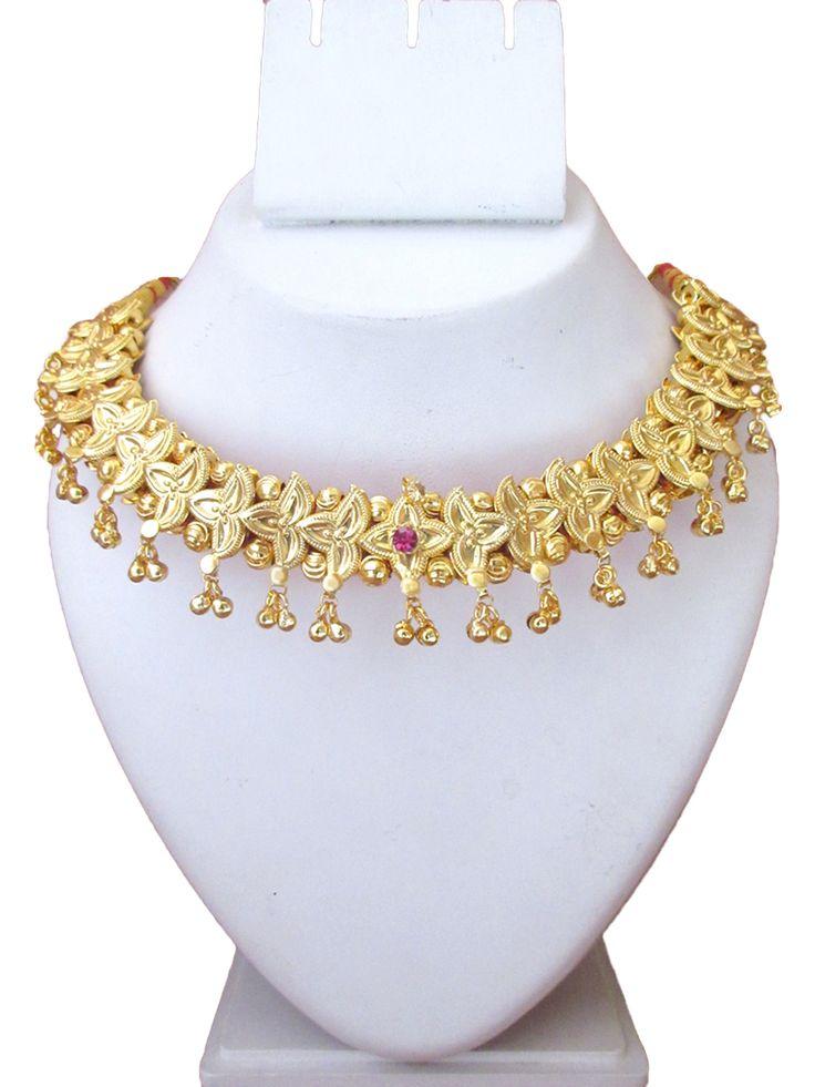 Gold Plated Belpan Vajaratik Necklace