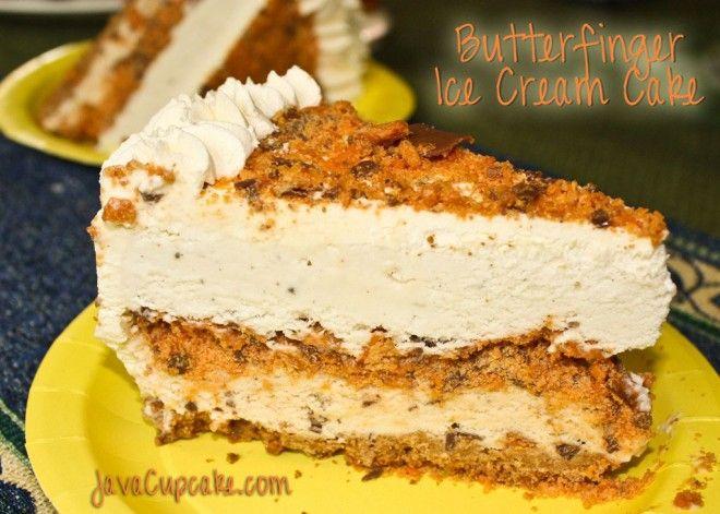 Butterfinger Ice Cream Cake: Recipe, Sweet Treats, Food, Ice Cream Cakes, Sweet Tooth, Butterfinger Ice, Butterfinger Cake, Icecream, Dessert