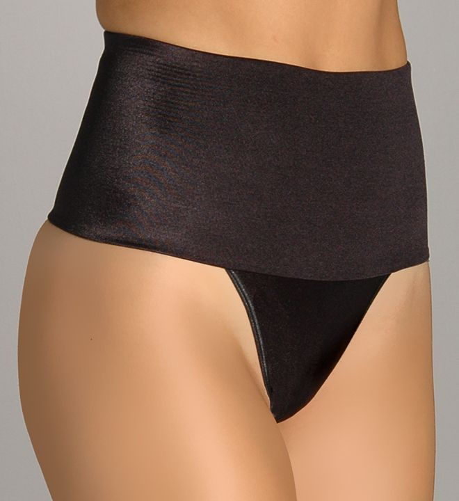 """Shapewear.  Rago Thong Back Waist Cincher 801. Slim your silhouette and tame your tummy with this shaper with a thong back for minimal panty lines and a natural look.  Rago's Waist Cincher features a 5"""" inner soft elastic waistband.  This shapewear thong gently shapes the tummy and midriff.  4-way stretch fabric clings and shapes your body.  For more, click the link below.  $25.20"""