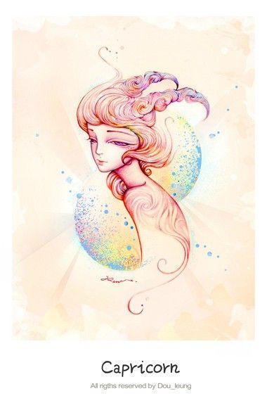 12 constellation by Dou , via Behance - Capricorn