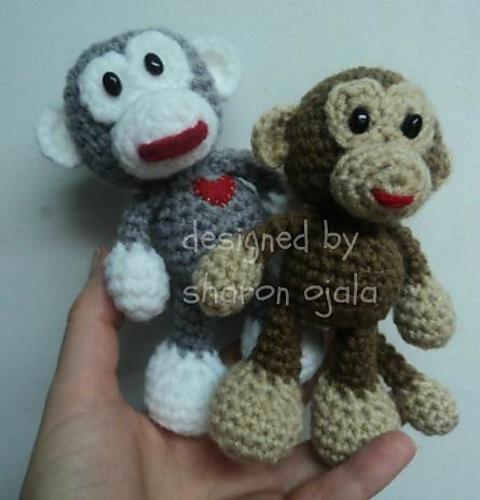 Free Amigurumi To Go!: Crochet Little Bigfoot Monkey (amigurumi easy pattern)