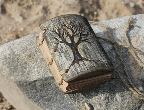 Wedding guest book withTree of Life wood rustic wood by crearting