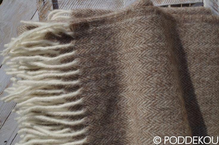 Orieškovo hnedá deka z merino vlny a mohéru. Luxusný merino mohérový prehoz svetlo hnedý.