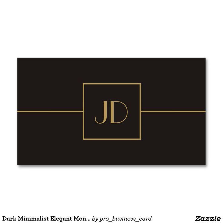 Abogado elegante minimalista oscuro del monograma tarjetas de visita