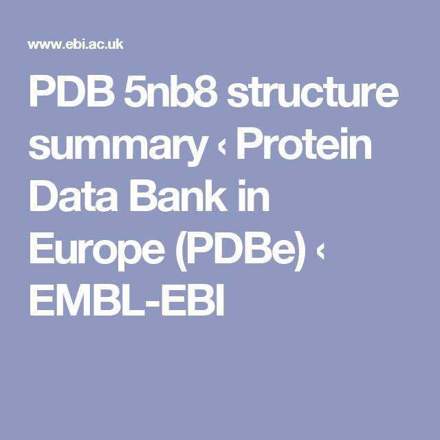 PDB 5nb8 structure summary ‹ Protein Data Bank in Europe (PDBe) ‹ EMBL-EBI
