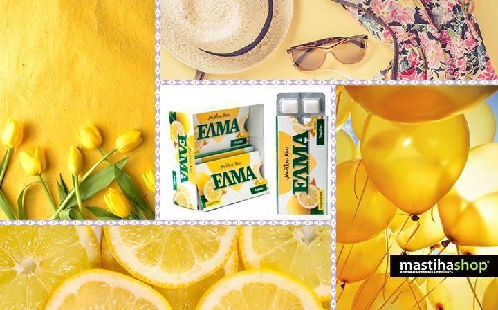 #yellow #lemon #gum with #mastiha #chios#island