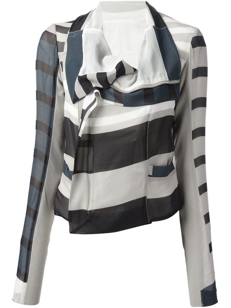 Rick Owens Striped Jacket - Pl-line - Farfetch.com