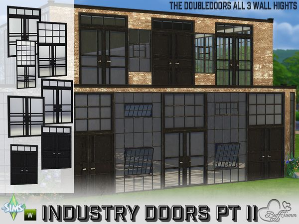 Industry Build Doubledoors By Buffsumm At Tsr Via Sims 4