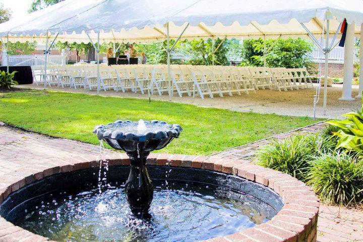 Outdoor Wedding Ceremony in Columbus Georgia The Garrett-Bullock House