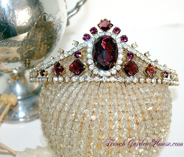 Amethyst Jeweled Rhinestone Tiara