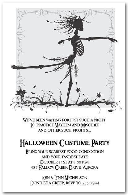 Halloween Invitations: Skeleton WaltzHalloween Invitations #halloweeninvitations #halloween