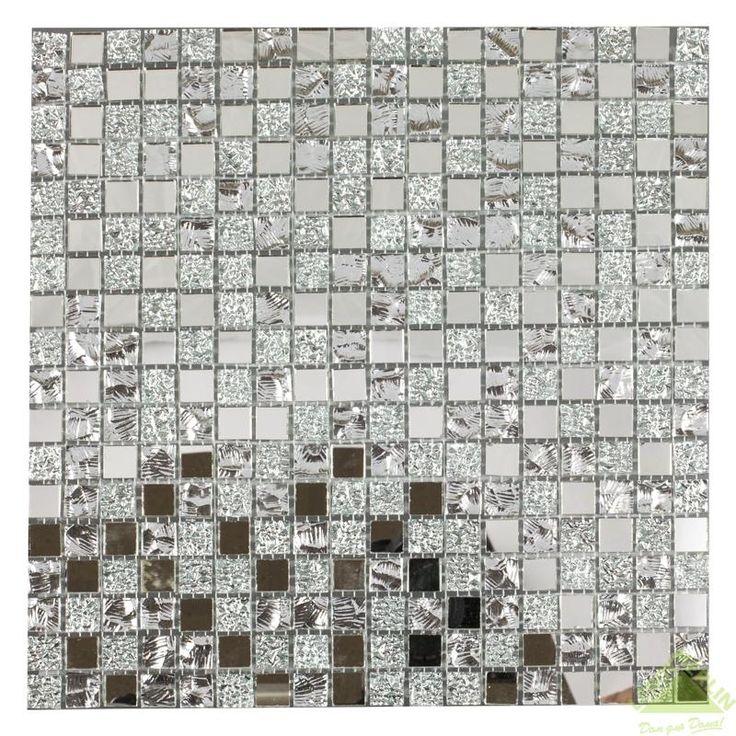Мозаика стеклянная Artens, серебряный микс, 297х297х4 мм, Мозаика - Каталог Леруа Мерлен