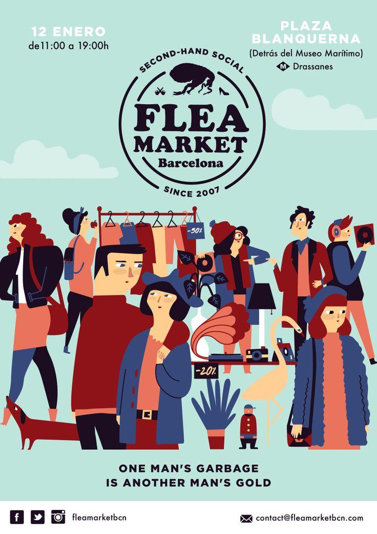 January Flea Market. Bea R Vaquero