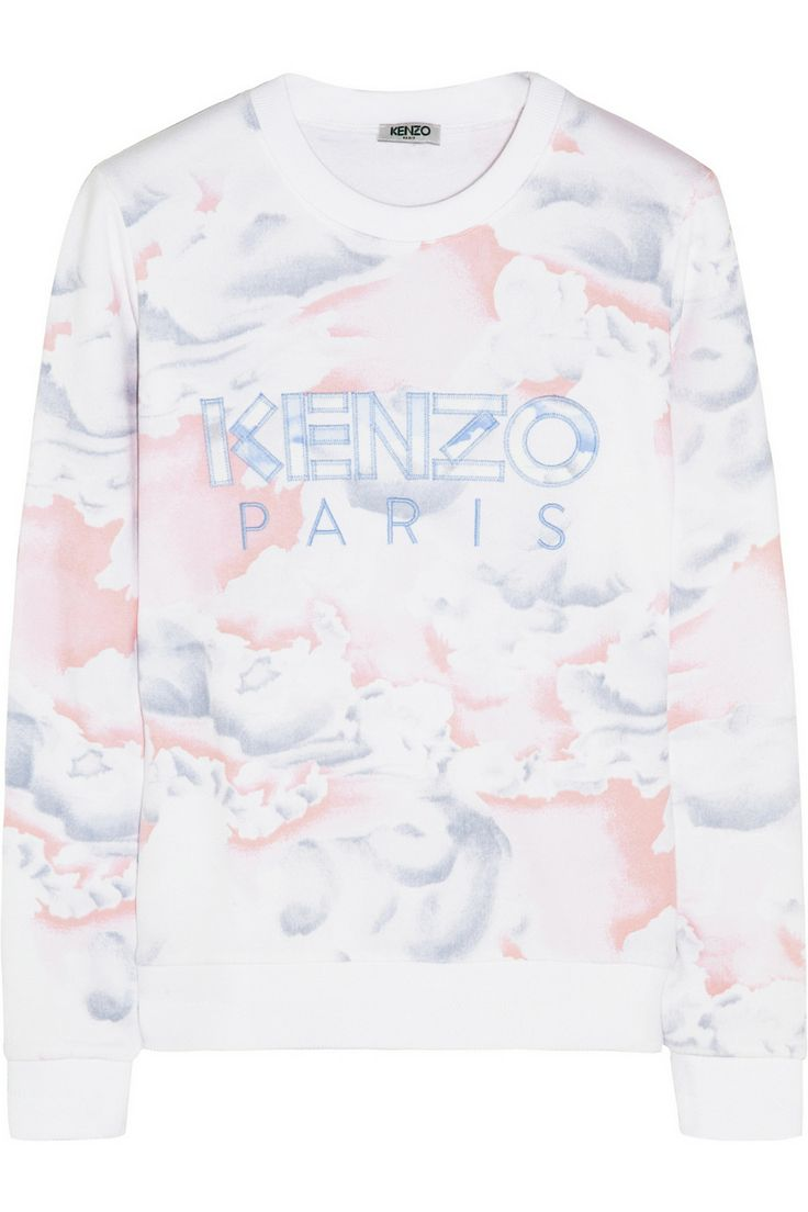 T-shirt design zeixs - White Baby Pink And Blue Printed Cotton Jersey Blue Embroidered Designer Motif Ribbed Trims Fleece Interior Slips On Cotton Hand Wash Or Dry Clean