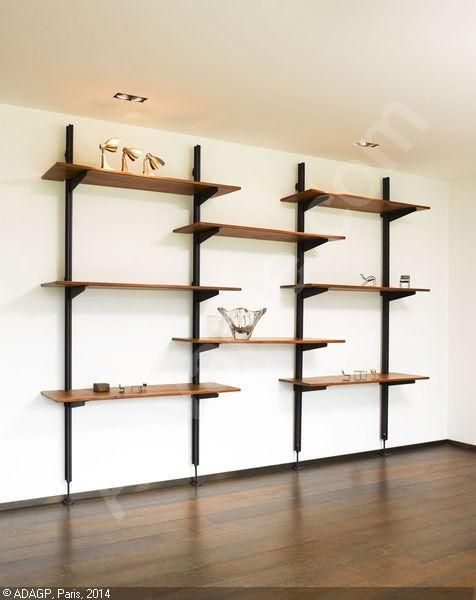 wall mounted shelf option... can make it very industrial to balance the feminine and to match the crib