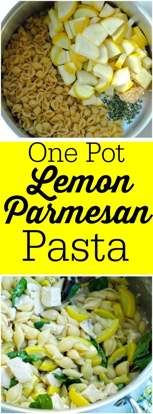This One Pot Lemon Parmesan Pasta recipe can be on your dinner table in less than 20 minutes!  Easy, clean eating recipe. Great healthy weeknight meal.  I need all the easy dinner recipes I can get.