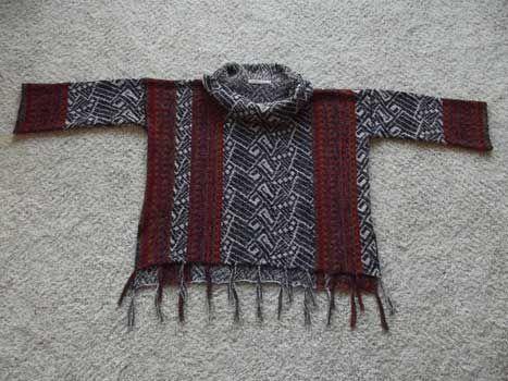 Abstract Sideways Pullover | Small-Medium-Large-XL-Plus | Dynamic Pattern Format | Skill Level: Advanced Beginner | Designer: Ellen Kindsvater | Machine Knitting Pattern