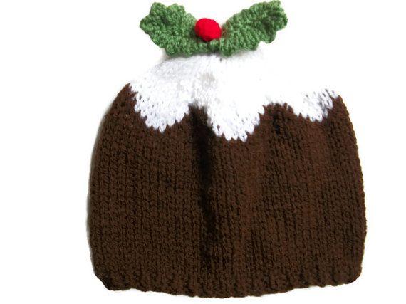 Christmas pudding hat Baby Child Adult by thekittensmittensuk, £9.99