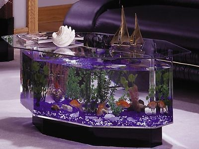 Big Fish Tank Coffee Table And Aquarium Acrylic Living Room Furniture With Stand