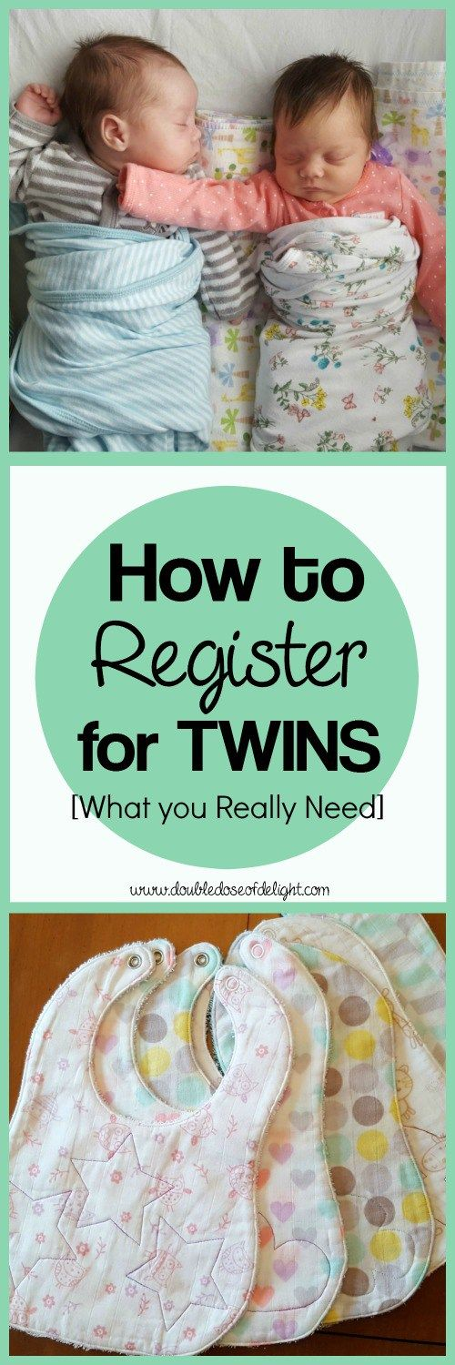 How to Register for Twins: What you Really Need - Double Dose of Delight. #twinregistry #twinpregnancy #twins #nursery #preparingfortwins