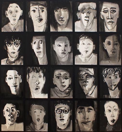 en face (120x130) by Marjanne Beeuwkes