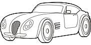 Ausmalbild/Malvorlage Auto Sportwagen (Klicken für Großansicht + PDF)