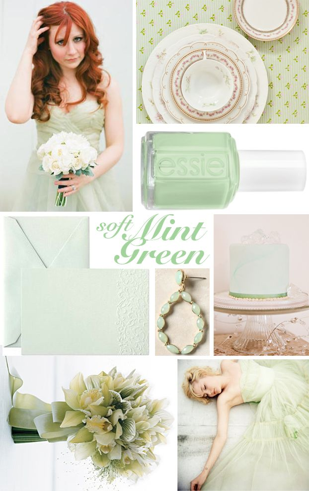 Mint green wedding.