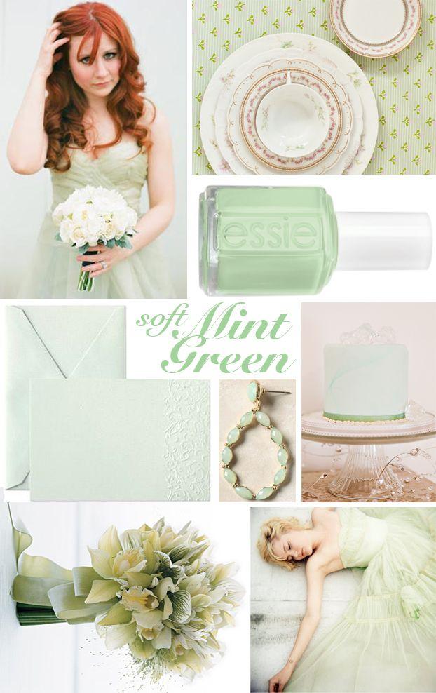 Mint green wedding.