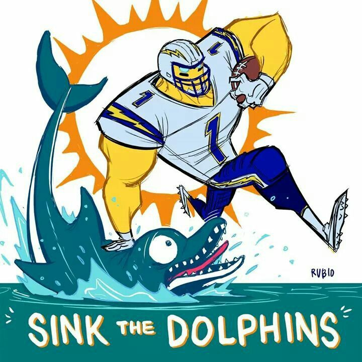 San Diego Chargers Bolt Up: Sink The Dolphins. Chargers! Bolt Up!