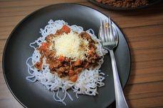 Bolonske spagety /Spaghetti  bologhnese/  Bezlepkový a nízkosacharidový zdravý recept /Gluten free and low carb healthy recipe/