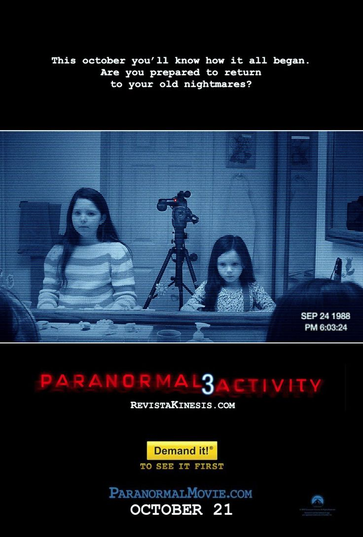 Paranormal Activity 3 - Review: Paranormal Activity 3 (2011) is a 1h 23-min rated R an American found footage supernatural… #Movies #Movie