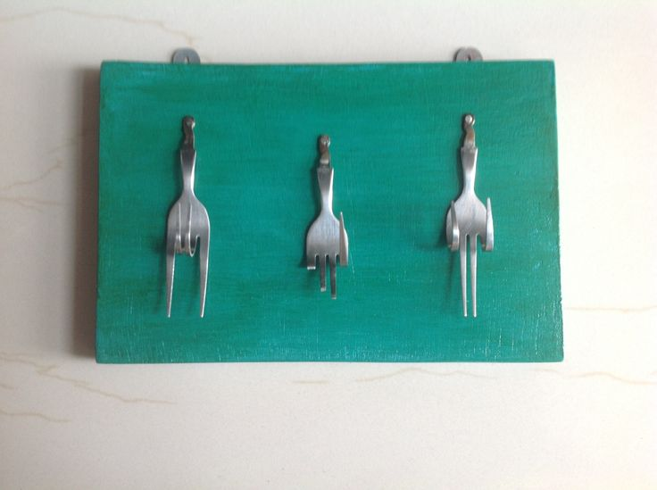 Key holder from old cutlery